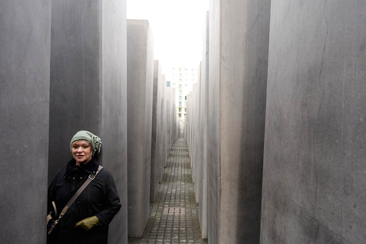 Jan Stevens at the Holocaust-Denkmal, Berlin