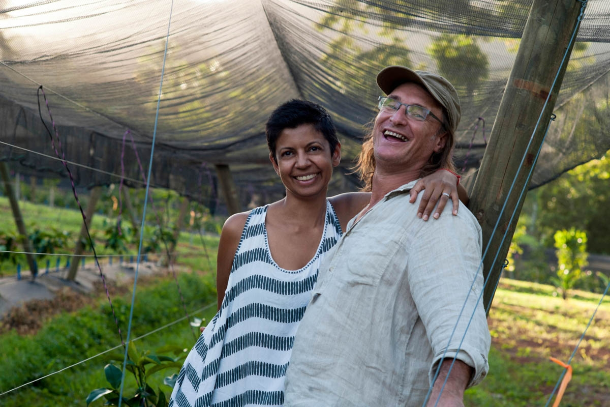 Chris Beckwith, Karen Pereira, Rubyberry farm, Daintree, Queensland